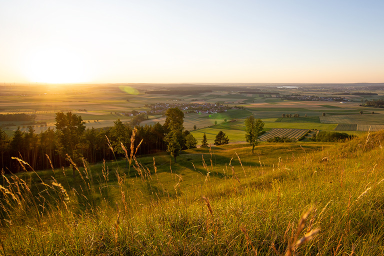 Sonnenuntergang Gelber Berg