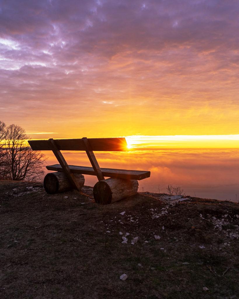 Sonnenuntergang am Hesselberg im Fränkischen Seenland