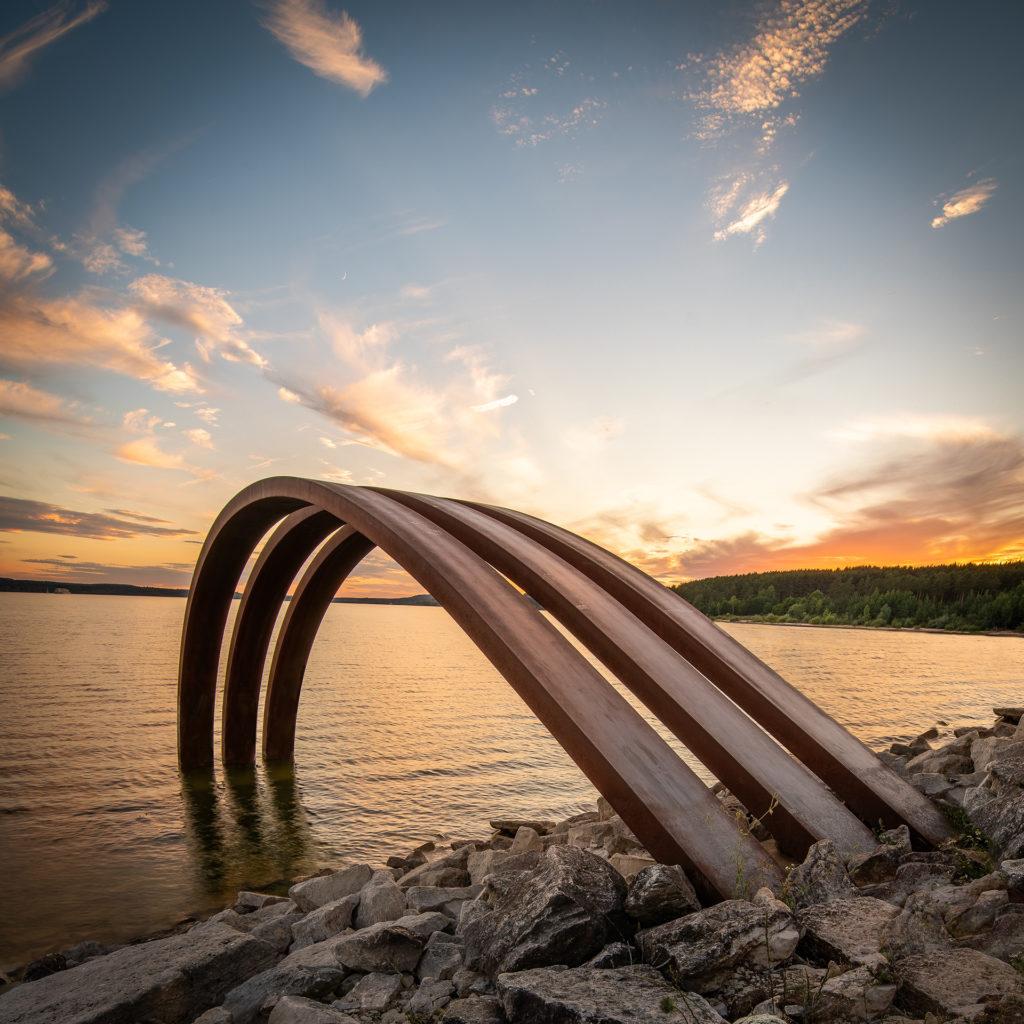 Sonnenuntergang Brombachsee am Weiten Bogen