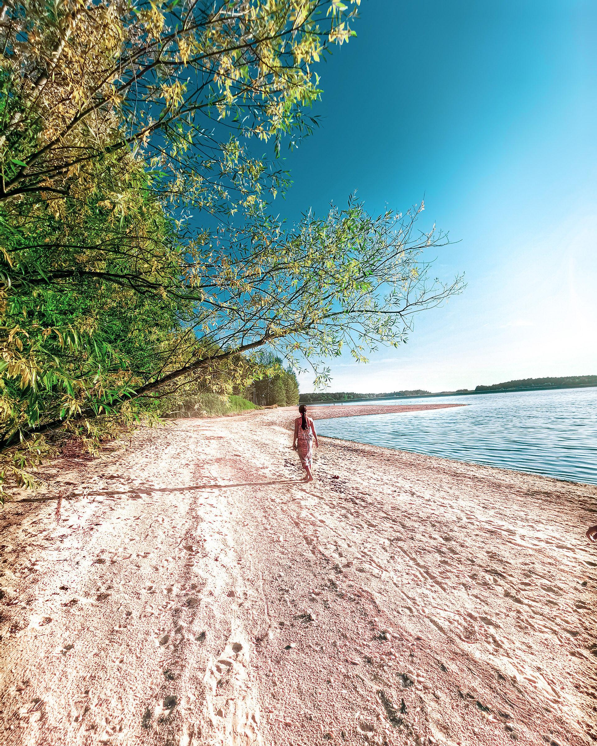 Strand am Rothsee zwischen Hasenbrucker Insel und Heuberger Badestrand