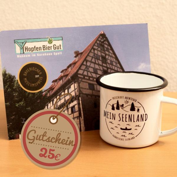 Geschenkset Hopfen Bier Gut + MeinSeenland Emailletasse